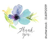 greeting card. watercolor... | Shutterstock . vector #316092059