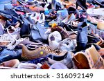 Shoes  Lots Of Used In Pile
