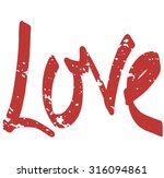 Hand Drawn Text Background With Love Word