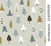 seamless christmas background... | Shutterstock .eps vector #316095059