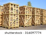 Chipped Fire Wood In Packing O...