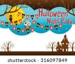 halloween background and... | Shutterstock .eps vector #316097849