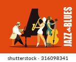 abstract jazz band  jazz music... | Shutterstock .eps vector #316098341