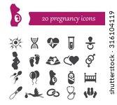 pregnancy icons | Shutterstock .eps vector #316104119