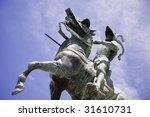 Pizarro Statue Over The Blue...