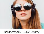 fashion lifestyle portrait of... | Shutterstock . vector #316107899