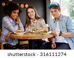 cheerful multiracial friends...   Shutterstock . vector #316111274