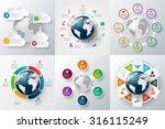 vector infographics global... | Shutterstock .eps vector #316115249