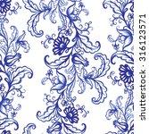 vector floral watercolor... | Shutterstock .eps vector #316123571