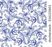 vector floral watercolor... | Shutterstock .eps vector #316123601