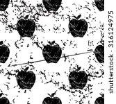 apple pattern  grunge  black...