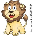 cartoon lion. vector clip art... | Shutterstock .eps vector #316125335