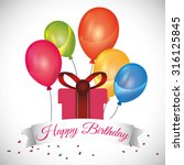 happy birthday concept with... | Shutterstock .eps vector #316125845
