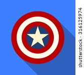 shield with a star  superhero... | Shutterstock .eps vector #316125974