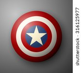 shield with a star  superhero... | Shutterstock .eps vector #316125977