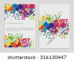 vector  business brochure or... | Shutterstock .eps vector #316130447