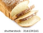 Loaf Of Bread  Sliced  Isolate...