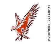 illustration of red flying... | Shutterstock .eps vector #316138469