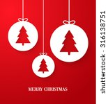 christmas paper card with... | Shutterstock .eps vector #316138751