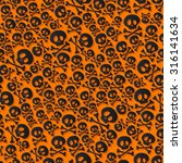 cute black skulls and... | Shutterstock .eps vector #316141634