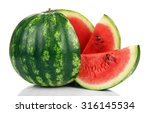 Ripe Striped Watermelon...
