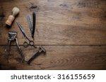Vintage Barber Shop Tools On...