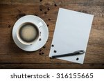 set of coffee and white blank... | Shutterstock . vector #316155665