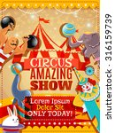 traveling circus amazing show... | Shutterstock .eps vector #316159739