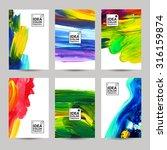 acrylic paint texture vertical...   Shutterstock .eps vector #316159874