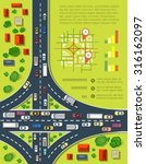 road infographics with highways ... | Shutterstock .eps vector #316162097