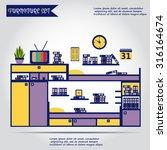 illustration of furniture ... | Shutterstock .eps vector #316164674