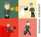 set of businessman pose... | Shutterstock .eps vector #316165697