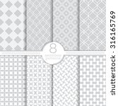 seamless pattern. set of eight... | Shutterstock .eps vector #316165769