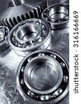 ball bearings and gears ... | Shutterstock . vector #316166669