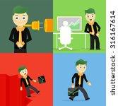 set of businessman pose... | Shutterstock . vector #316167614