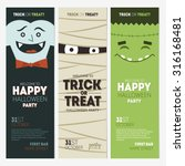 halloween party banner... | Shutterstock .eps vector #316168481