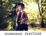 street fashion concept  ... | Shutterstock . vector #316172105