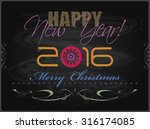 2016 happy new year and card... | Shutterstock . vector #316174085