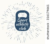 logo for sport athletic club.... | Shutterstock . vector #316174661