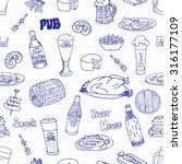hand drawn vector seamless... | Shutterstock .eps vector #316177109