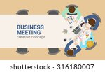 office table top view business... | Shutterstock .eps vector #316180007