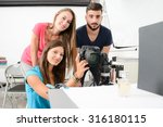 group of young photographer... | Shutterstock . vector #316180115