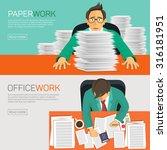 hard work  businessman... | Shutterstock .eps vector #316181951