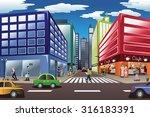 a vector illustration of city... | Shutterstock .eps vector #316183391