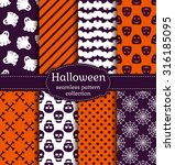 happy halloween  set of... | Shutterstock .eps vector #316185095