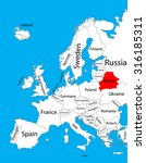 belarus vector map  europe.... | Shutterstock .eps vector #316185311