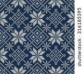 christmas sweater design.... | Shutterstock .eps vector #316185395