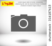 photo camera. icon. vector eps... | Shutterstock .eps vector #316187615
