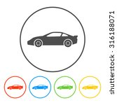 car icon. flat design style eps ... | Shutterstock .eps vector #316188071