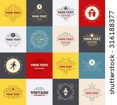 vintage frames  labels. women... | Shutterstock .eps vector #316188377